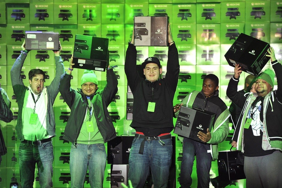 Xbox One Fans Celebrate purchasing their new consoles