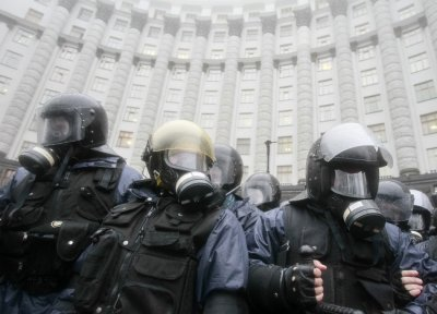 Ukraine Police clash