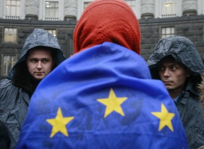 Kiev Russia EU demonstration