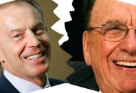Tony Blair and Rupert Murdoch no longer speak, say reports PIC: Reuters