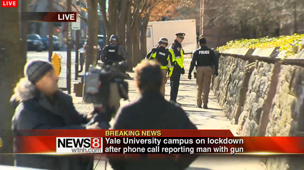Armed police at Yale University after reports of gunman PIC: News 8