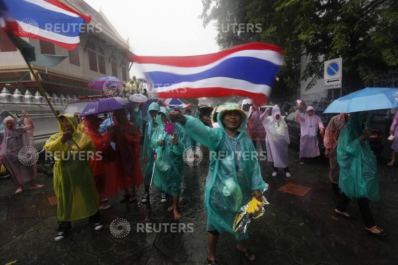 Thailand Protests outside Interior Ministry
