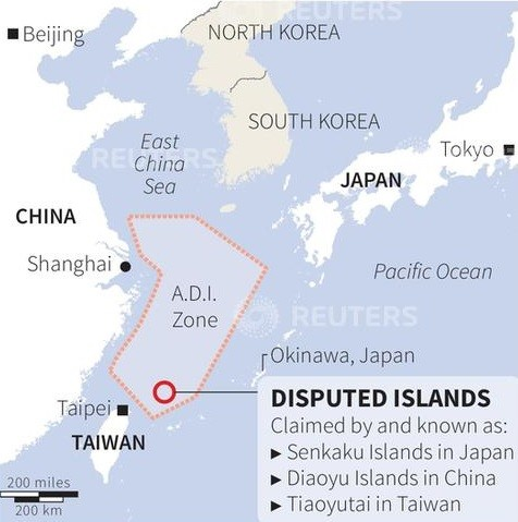 China Japan air zone