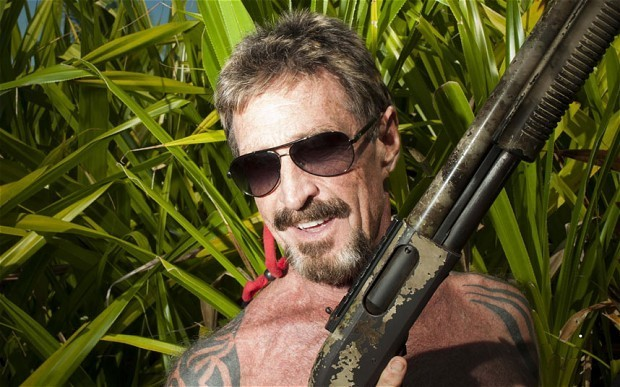John McAfee has been accused of stalking a property manager in Oregon.