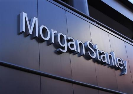 The corporate logo of financial firm Morgan Stanley is pictured on a building in San Diego, California September 24, 2013.