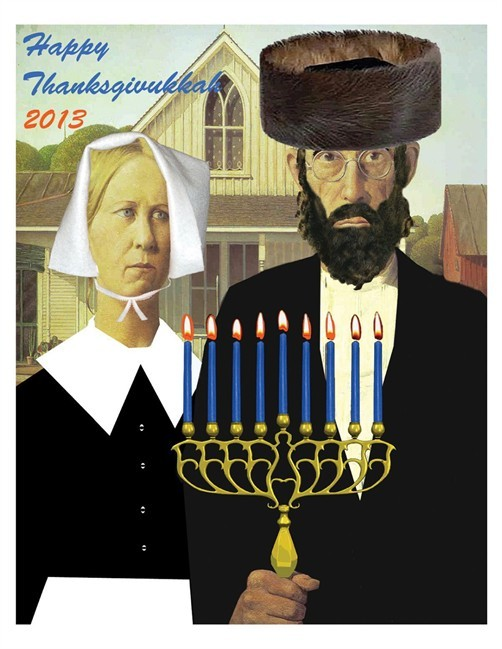 Hanukkah coincides with US celebration of Thanksgiving