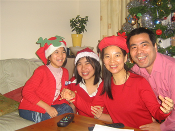 The Ding family were found stabbed to death at their home (Northampton Police)