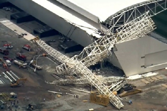 Three pepole dead in Corinthians Arena as World Cup looms PIC: Ao Vivo