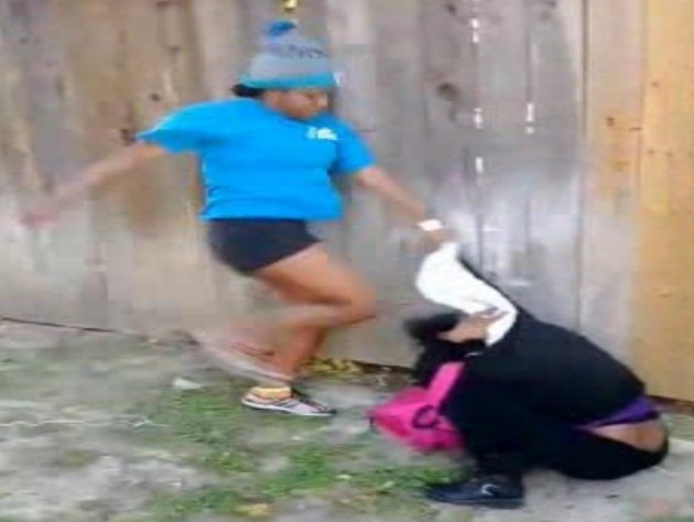 Screenshot from the Sharkeisha fight video