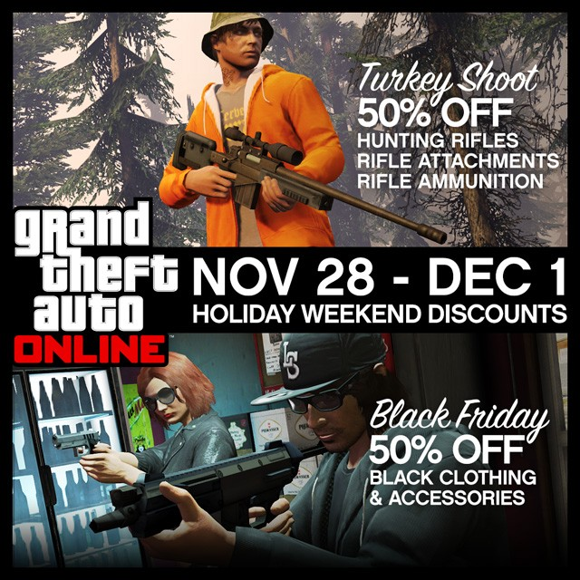 GTA 5 Online: Rockstar Offers Big Black Friday Weekend Discounts on Weapons and Accessories