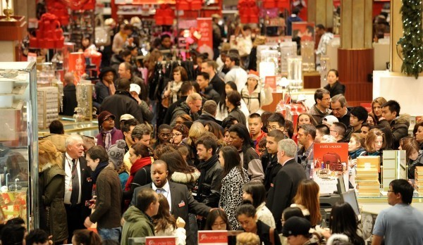 Shopping frenzy on Black Friday