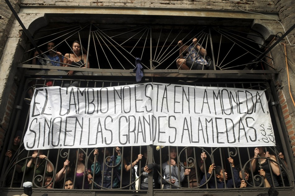 Student protest in Santiago