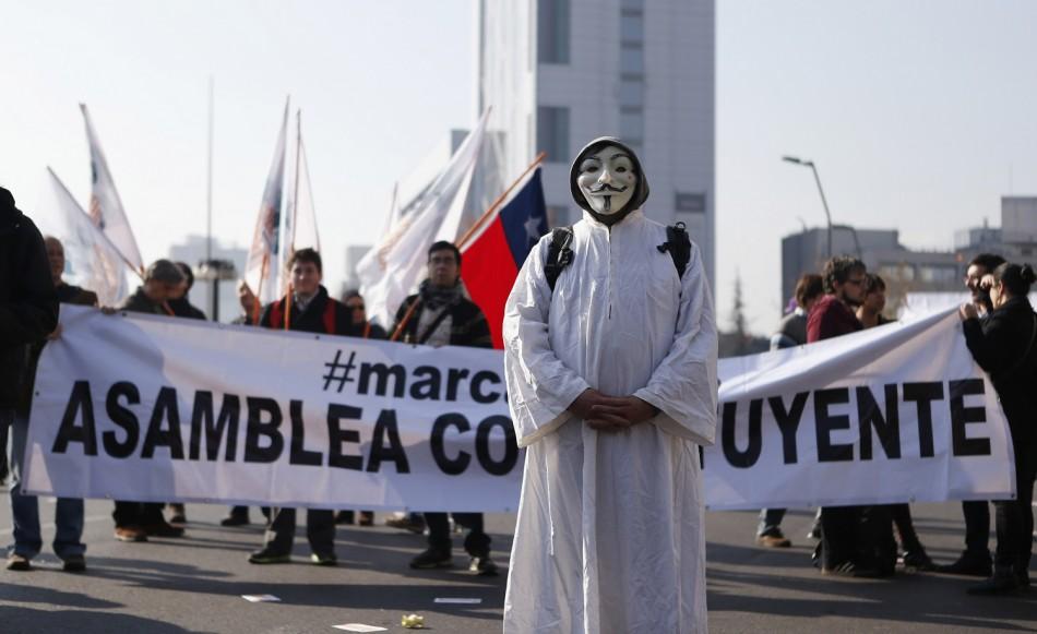 General strike in Santiago