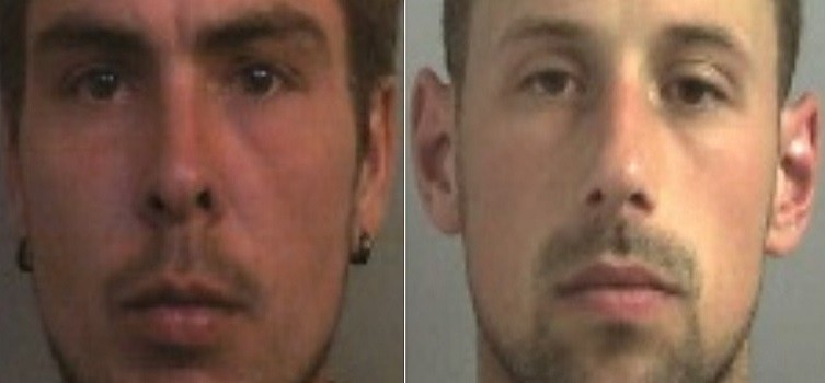 lee James (l) killed Bijan Ebrahimi and Stpehen Norley helped set the body on fire PIC: Avon & Somerset police