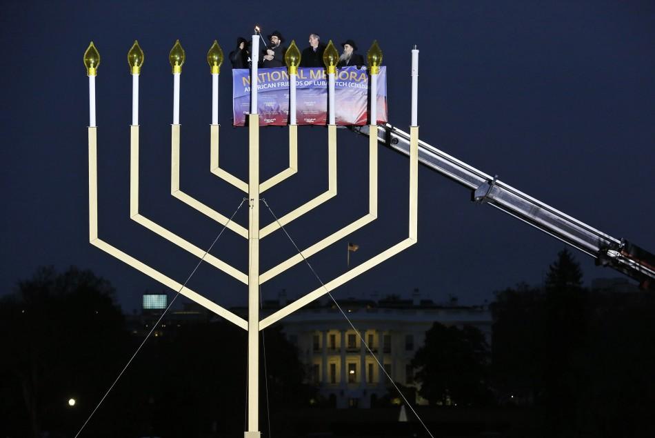Hanukkah 2013: Menorah at the White House, Washington DC