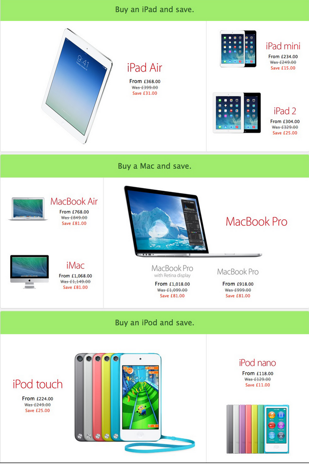 Black Friday 2013 UK: Apple's European Stores Go Live with Discounts and Not Gift Cards