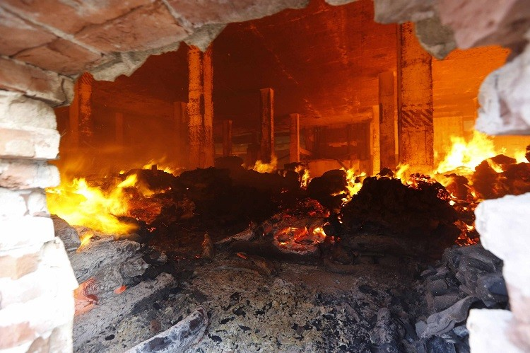 A massive fire has destroyed one of Bangladesh's largest garment factories, which supplies major Western brands such as Gap and Walmart (Photo: Reuters)