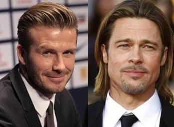 David Beckham and Brad Pitt