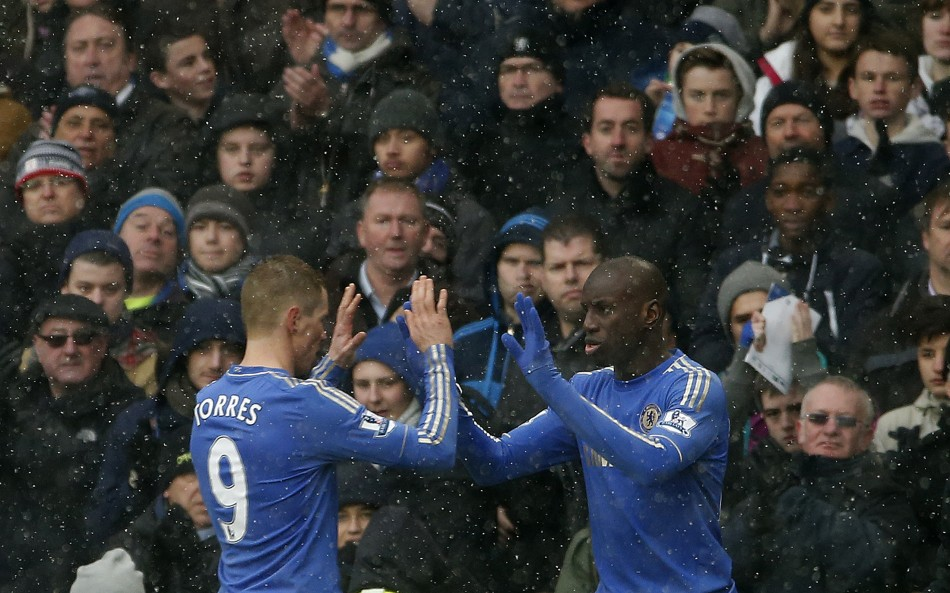 Fernando Torres and Demba Ba