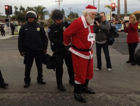 Bad Santa arrested