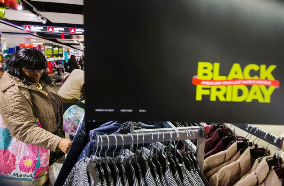 A shopper looks at items on sale inside of a JC Penney store during Black Friday sales in New York, November 29, 2013.(Reuters)