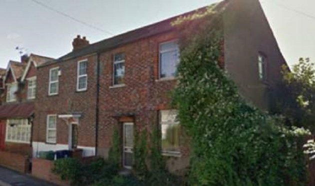 The home (right) in Littlemore, Oxford, where the bodies were found. Google Street View