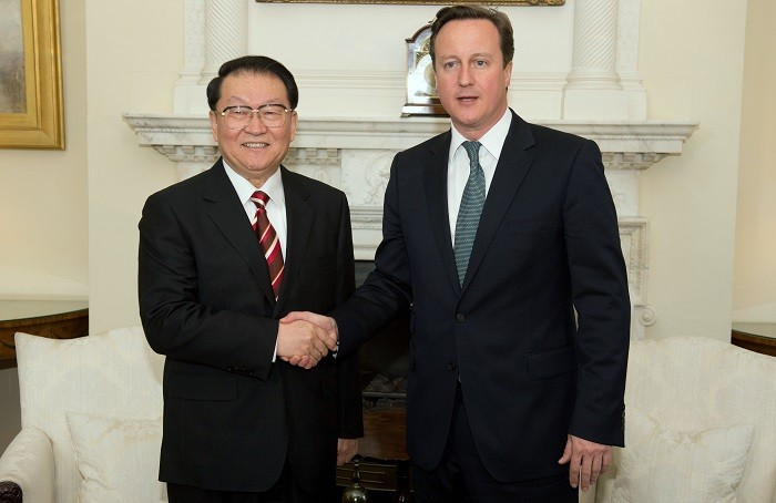 Cameron meets Chinese politician