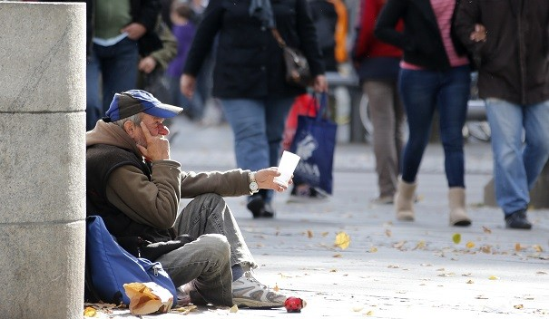 Mormon bishop David Musselman disguised himself as a homeless man to teach his congregants about compassion. (Reuters)
