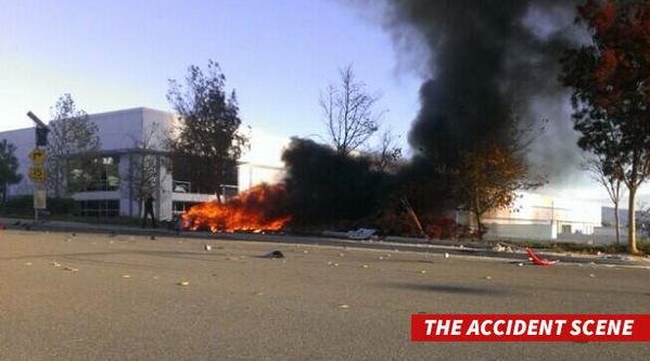 Paul Walker's car crash site