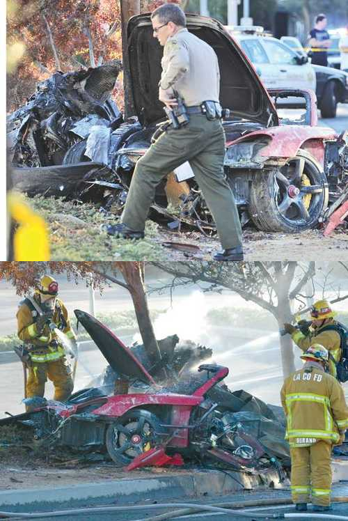 Paul Walker's car accident site