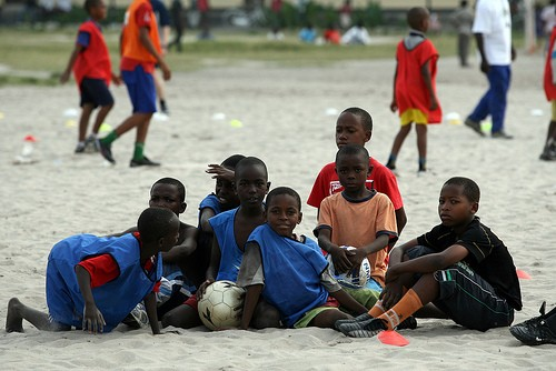 Tackle Africa is a charity that uses football as a way of educating young Africans about sexual health, relationships, and HIV. (Photo: TackleAfrica)
