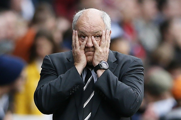 The odds of Martin Jol being the next Premier League dismissal were 1-8 on Saturday. (Reuters)