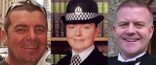 (Left to right) Captain David Traill, Constable Kirsty Nelis andConstable Tony Collins (Police Scotland)