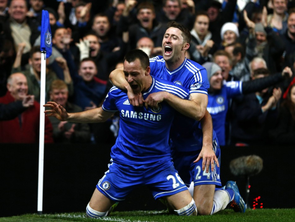 Terry and Cahill scored against Southampton
