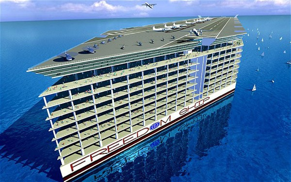 Freedom Ship: the $10 Billion Floating City for the Super Rich