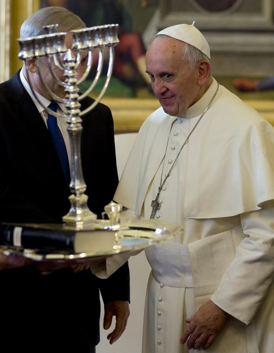 ISrael Netanyahu Pope Francis book