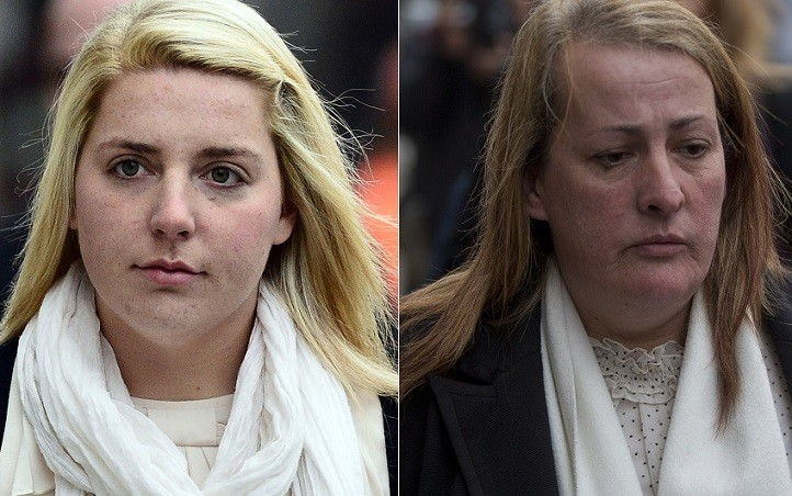 Aimee West (l) and Lyn Rigby leave court after hearing harrowing evidence of the killing of Lee Rigby PIC: Reuters