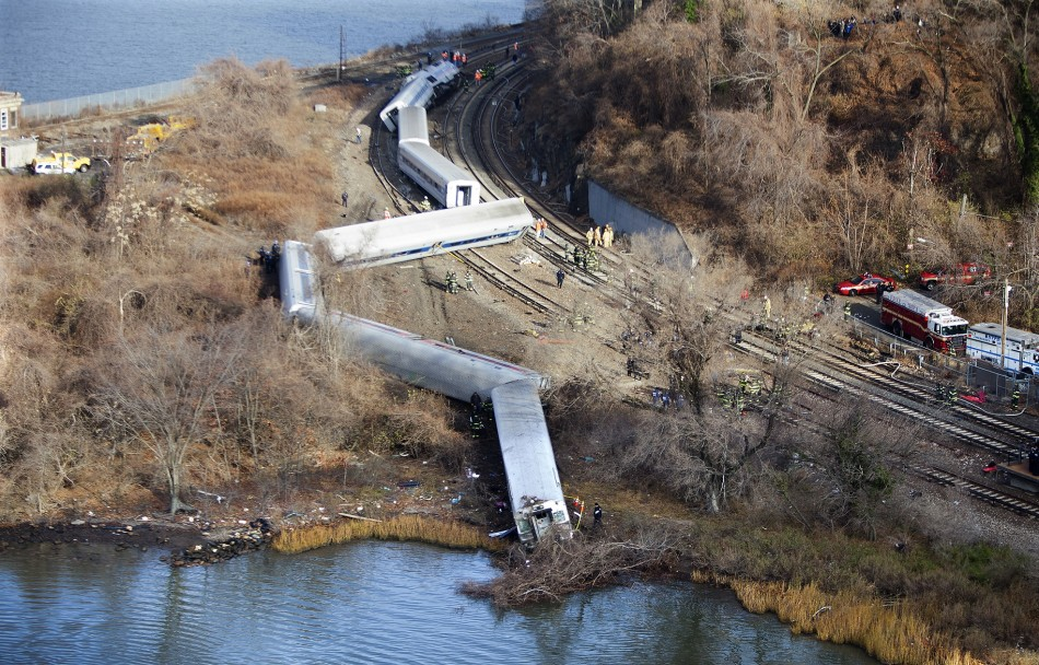 Metro-North Train derailment New York