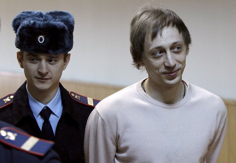 Former Bolshoi Ballet dancer Pavel Dmitrichenko at court in Moscow PIC: Reuters