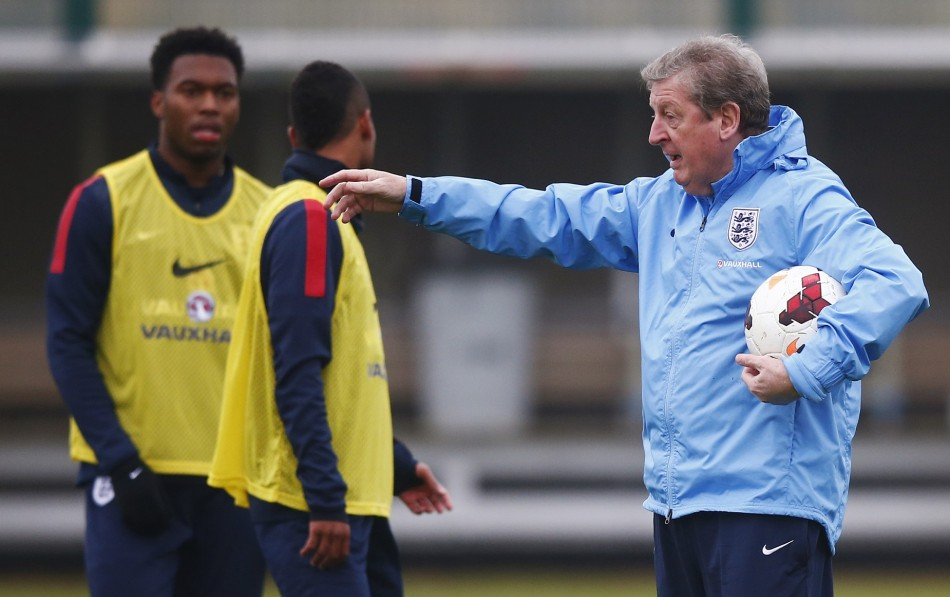 Daniel Sturridge and Roy Hodgson