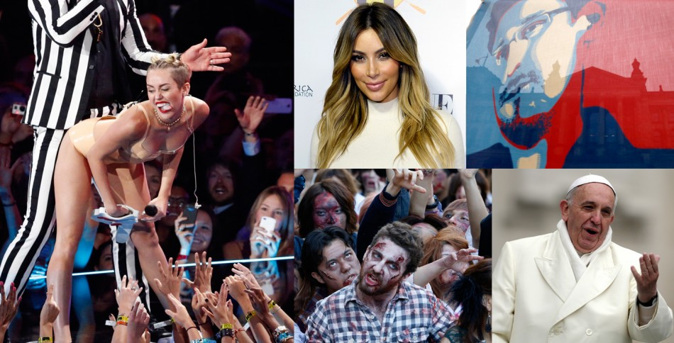 Yahoo's Year in Review: Miley Cyrus, Kim Kardashian, zombies, Edward Snowden and Pope Francis