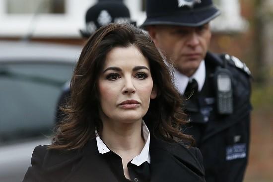 Nigella Lawson arrives at Isleworth Crown Court fraud trial PIC: Reuters