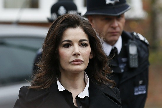 Nigella Lawson arrives at Isleworth Crown Court fraud trial PIC: Reuters