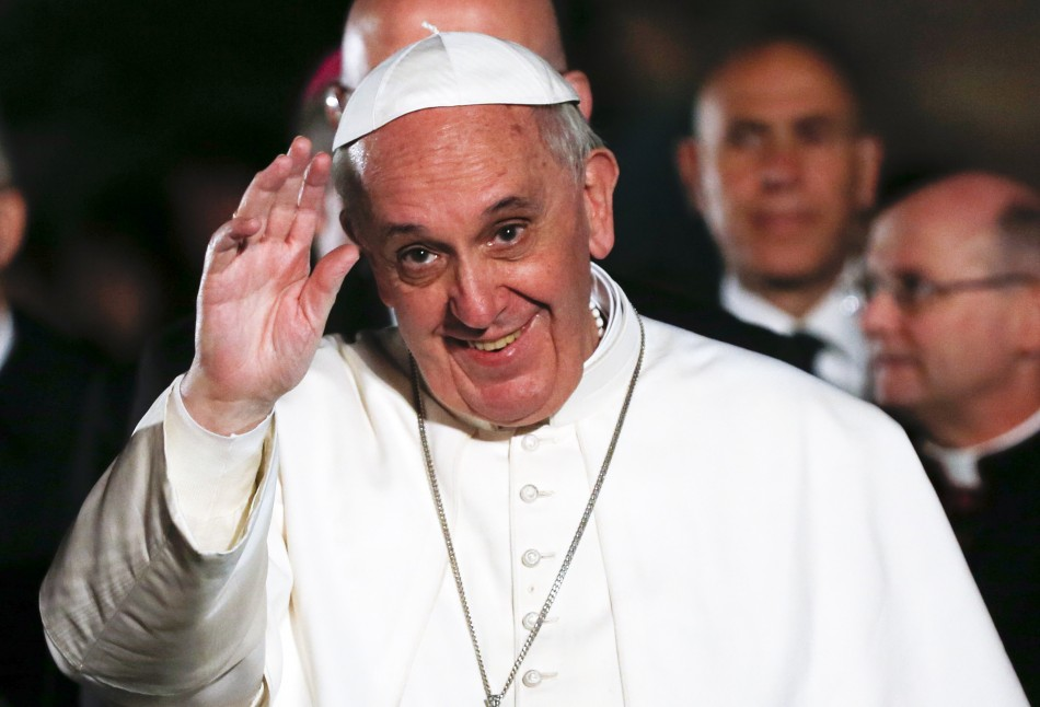 Pope Francis said he worked in a bar and did some work as a bouncer when he was a student (Reuters)