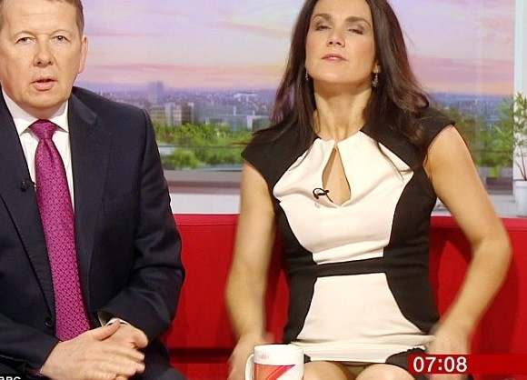 Bbc S Susanna Reid Has Basic Instinct Moment Live On Air