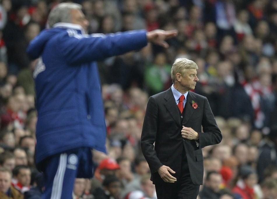 Arsene Wenger and Jose Mourinho