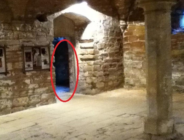 It is claimed the white shape circled is the White Woman of Rufford Abbery PIC: Nottinghamshire County Council