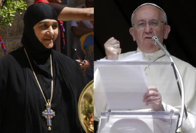 Pope Francis nuns Syria