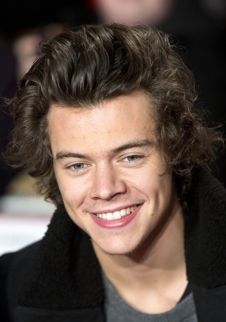Singer Harry Styles from the band One Direction attends the world premiere of the film