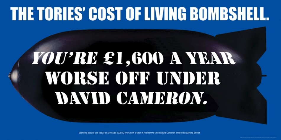 Autumn Statement 2013: Labour Attacks UK Government with Cost of Living Bombshell Poster (Photo: Labour Party)